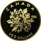 1986 1/2 oz Proof Gold Canadian $100 Coin | International Year Of Peace (With Box & COA) Gold And Silver Coins, 100 Dollar, Proof Coins, Newfoundland, 50th Anniversary, Unity, The 100, Peace, Box