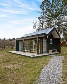 "Compact Living on Instagram: ""24 m2 (258 ft2) tiny house in #Jutland #Denmark by Simon Steffensen - More images @CompactLiving #interiors #interiordesign #architecture #decoration #interior #home #design #photogrid #bookofcabins #homedecor #decoration #decor #prefab #smallhomes #instagood #compactliving #fineinteriors #cabin #tagsforlikes #tinyhomes #tinyhouse #like4like #FABprefab #tinyhousemovement #likeforlike #houseboat #tinyhouzz #containerhouse"""