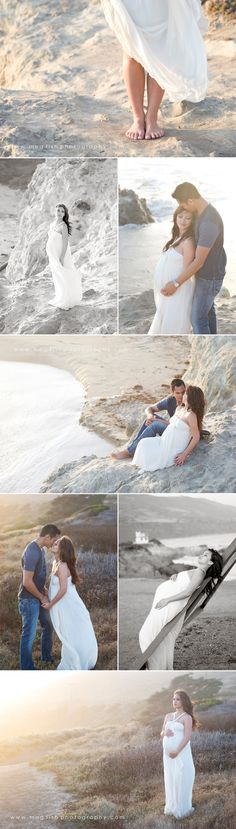 Beautiful poses and style of photography. Beach Maternity Photos, Maternity Poses, Maternity Portraits, Maternity Photographer, Maternity Dresses, Pregnancy Photos, Couple Maternity, Baby Photos, Photography Poses