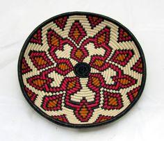 RAINFOREST INDIAN BASKET - Geometric Patterned Bowl- WOUNAAN EMBERA