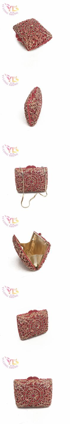Crystal Purses Evening Clutches Crystal Floral Flower Evening Metal purse bag IN FREE SHIPMENT YLS-F48