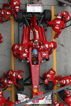 Alonso Fernando Ferrari pitstop
