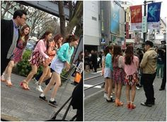 """KARA spotted promoting """"Bye Bye Happy Days"""" in the streets of Japan"""