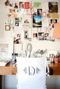 Inspirationen zur Wanddekoration - Arbeitsplatz mit Schreibtisch