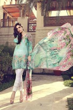 158fd2edba MARIA.B. Lawn Collection 2017 ft. Maya Ali – Pakistani Lawn Suits