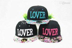ca68a1231c Brand New Floral Script LOVER Snapback Hats men   women s designer flower  snapback caps Boné Aba