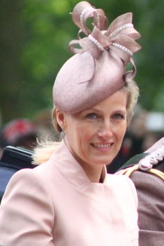 Sophie, Countess of Wessex Princess Louise, Princess Mary, Sophie Rhys Jones, Fascinator Hats, Fascinators, Countess Wessex, Lady Louise Windsor, Queen Hat, My Fair Lady
