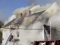 Truck Operations Collapse Chimney Firefighter Close Call