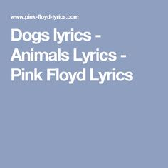 Pink Floyd - Dogs - w/lyrics - YouTube