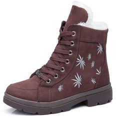 Women Casual Warm Snow Boots Ankle Martin Boots Flat Cotton Zipper Snow Boots