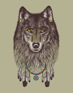 Wolf Dream Catcher Fusion