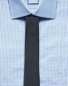 gingham shirt x knit tie = awesome