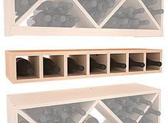 7 Bottle Wine Cubby Storage Rack in Pine. 13 Stains to Choose From! Cubby Storage, Basement Storage, Wine Storage, Storage Spaces, Wine Bottle Storage Ideas, Basement Ideas, Cabinet Storage, Record Storage, Cubbies