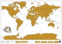 Scratch Map is brilliant! Its the perfect way to show off where you've been travelling while livening up your wall with a colourful world map.