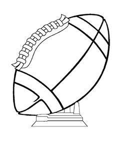 christmas football coloring pages - photo#41