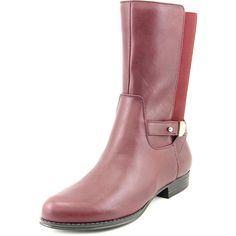 Isaac Mizrahi Trolley W Round Toe Leather Mid Calf Boot * Visit the image link more details.