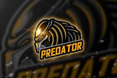 Predator - Mascot Esport Logo by AQR Studio on creativemarket Predator Games, Game Logo Design, Logo Desing, Scary Games, School Labels, Sports Team Logos, Game Character Design, Coreldraw, Cool Logo