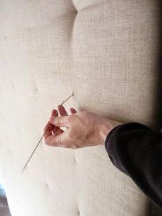 DIY: cómo hacer un cabecero con capitoné.   Decorar tu casa es facilisimo.com