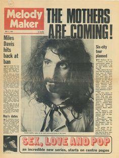Melody Maker music magazine, May 1969. (Frank Zappa)