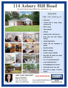New listing (home) in Plantation Hills in Daphne. Call or text me to see this cute, cute, cute home! $169,900 | 3BR | 2BA | 1494 SQ FT. amycuny.com 251.709.4331 c | 251.990.6622 (Coldwell Banker Reehl Properties) #yourreehltor #homeforsaledaphne