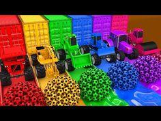 Aprender los colores con coches de construcción y Tractor VS Balón de fútbol Diapositiva para Niños - YouTube Babyshower, Tractors, Lounge, Gym, Drinks, Youtube, Nail Art, Hairstyles Videos, Cars