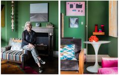 The Design Files steps inside Chrissie Jeffery's, No Chintz Owner and Interior Decorator, home. Decor, Furniture, Interior Decorating, Interior, Loft Bed, Apartment, Home Decor, Step Inside, House Colors