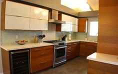 Modern kitchen. Sleek 1966 Mid-Century in Mt. Washington, 699k