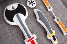 Sleepovers will never be the same again with these Pillow Fight plush weapons from Shop   Littleville.