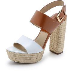 Michael Kors Collection Summer Platform Espadrille Sandals (510 AUD) ❤ liked on Polyvore