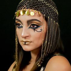 d3f9f27b3e9 I m back with another easy makeup tutorial. This is how to achieve a  Cleopatra Inspired look this Halloween.