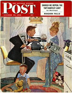 "Saturday Evening Post - October, 1948 - ""Politics In Their Kitchen"""
