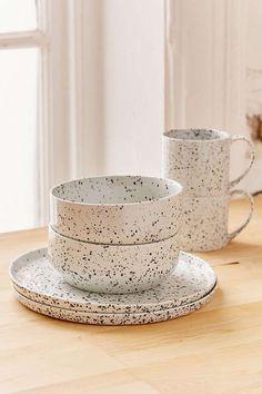 12-Piece Speckled Dinnerware Set