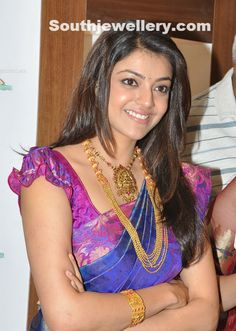 Kajal Agarwal in Temple Jewellery