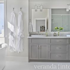 Bathroom Gray Cabinets