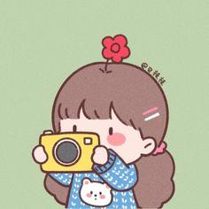 Cute Little Drawings, Cute Cartoon Drawings, Cute Pastel Wallpaper, Wallpaper Iphone Cute, Cute Love Gif, Cartoon Posters, Cute Posts, Dibujos Cute, Digital Art Girl