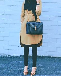 long neutral tunic hijab look