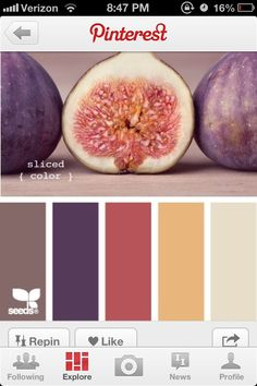 Deep fruit color scheme. #kitchen #kitchencolors
