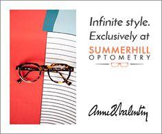 Infinite style...exclusively at Summerhill Optometry - Toronto Optometrist & Eyewear.  www.summerhilloptometry.com #eyewear #eyecare #eyes #eyeexam #optometrist #toronto