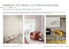 Need to know how to use Wolkberg tiles and colours to suit the new incoming Autumn and Winter trends? We've already done that for you!  Read our Embrace The Trend blog post and Download the Free Trend Guide. Fall Winter, Autumn, Winter Trends, Color Tile, Be Perfect, Tiles, Suit, It Is Finished, Colours