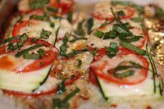 Layered zucchini baked stacks...cheesy goodness! #fodmaps