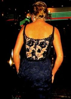 """February 12, 1997: Diana, Princess of Wales at the London premiere of """"Love…"""