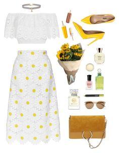 """""There are painters who transform the sun to a yellow spot, but there are others who with the help of their intelligence, transform a yellow spot into a sun."" -Pablo Picasso"" by are-you-with-me ❤ liked on Polyvore featuring Miguelina, Dolce&Gabbana, Tory Burch, Miss Selfridge, Arquiste Parfumeur, Yves Saint Laurent, PENHALIGON'S, Deborah Lippmann, NARS Cosmetics and MAC Cosmetics"