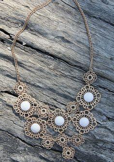 Beauty in Crochet Necklace