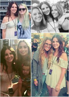 Lana Del Rey backstage with fans at Ohana Music Festival #LDR