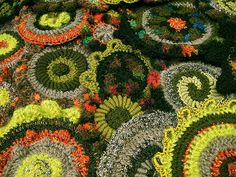 random crochet circles by #freeform by prudence, via Flickr