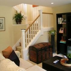 Traditional Stairs To Basement Design, Pictures, Remodel, Decor and Ideas - page 9