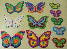 Hama beads... Little plastic things you melt together...