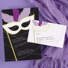 Mardi Gras Masquerade Party Invitations by Invitation Duck