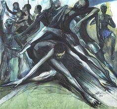Artwork by Ben Enwonwu, 'Africa Dances', Made of Oil on canvas