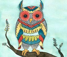'Bright Owl' by Danielle Laurenti